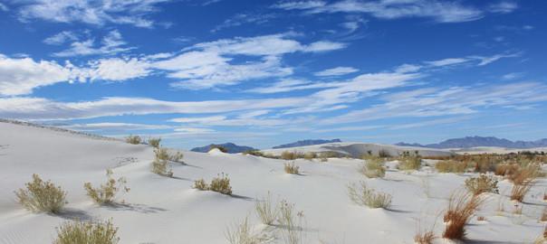Desert de Sel au Nouveau Mexique. Voyage Etats-Unis